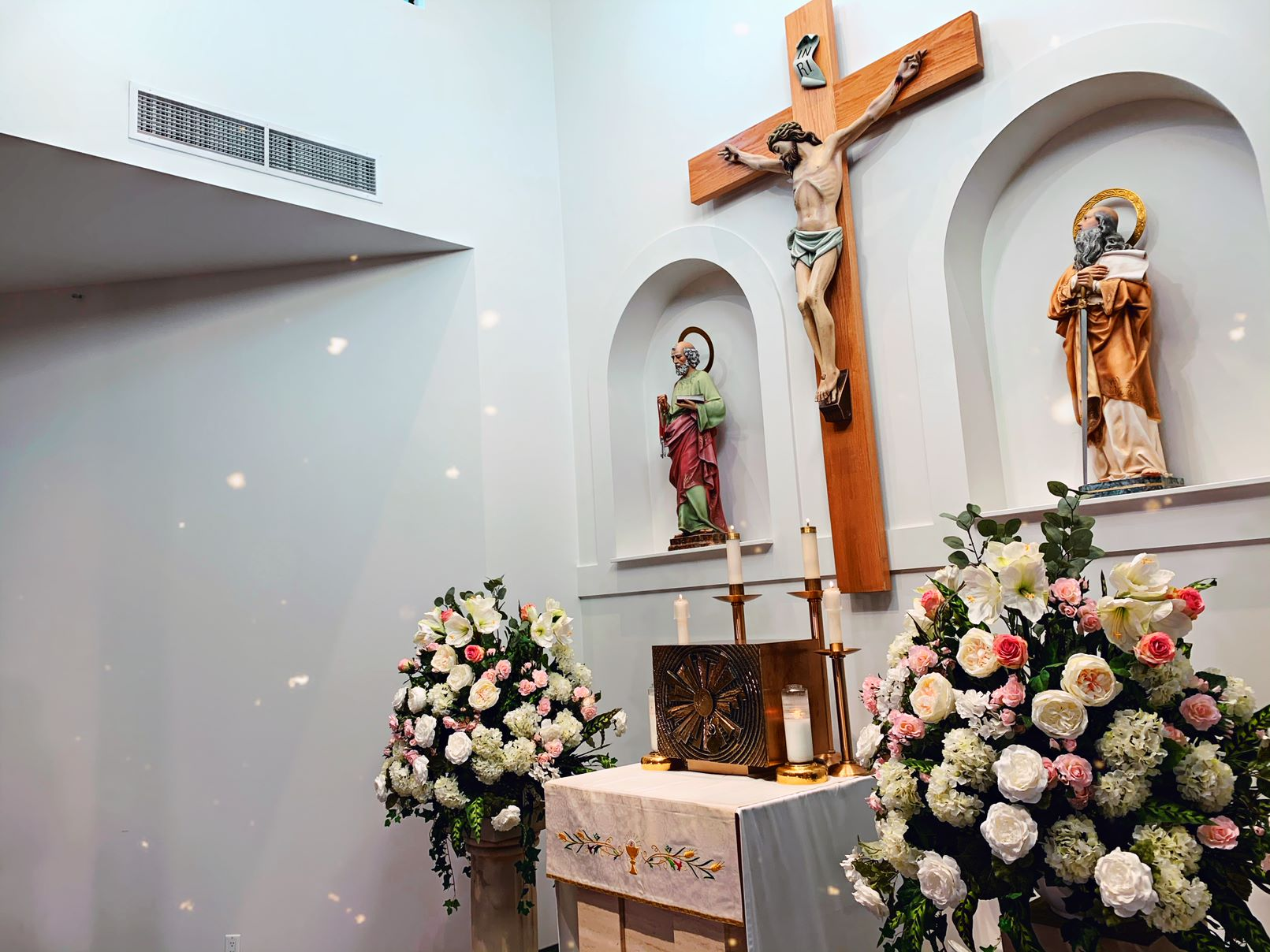 This is a picture of the crucifix by the Altar at Sts. Peter and Paul